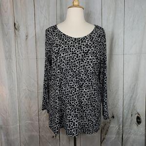 Lularoe 3XL black white blouse